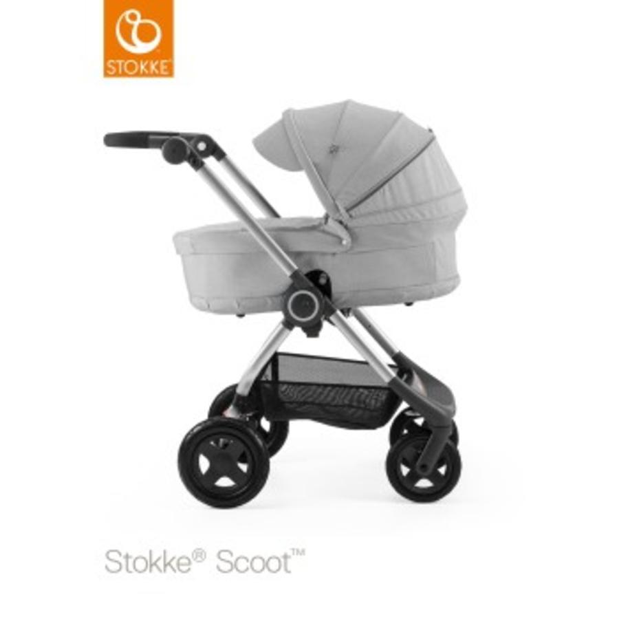 STOKKE® Scoot™ V2 Gestell Grey Melange inkl. Babyschale Grey Melange
