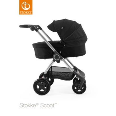 STOKKE® Scoot™ V2 Gestell Black inkl. Sonnendach Black und Babyschale Black
