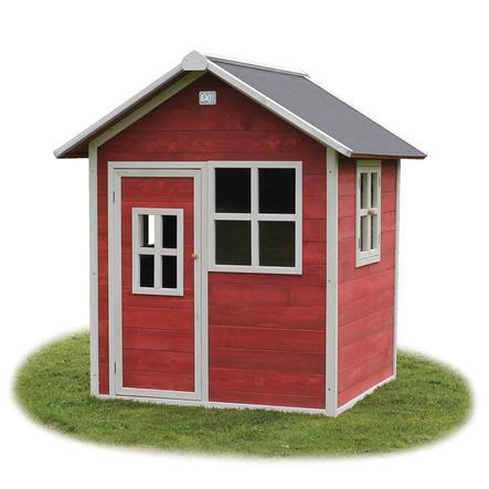 EXIT Drewniany domek zabaw Loft 100, czerwony