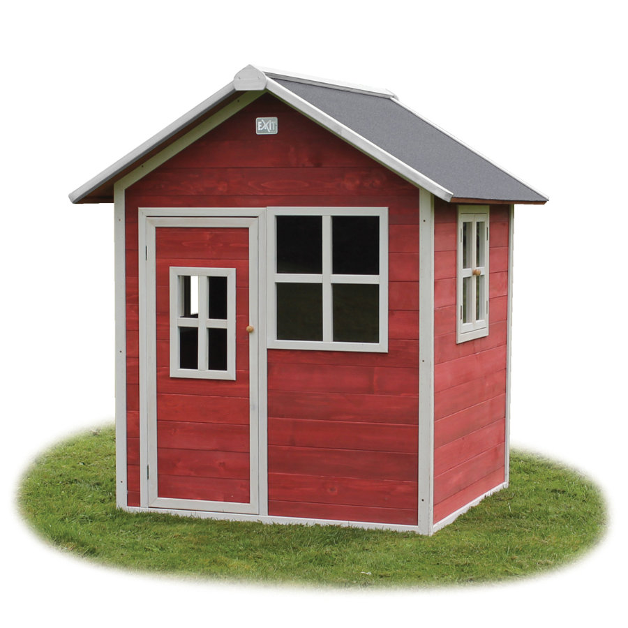 EXIT Holzspielhaus Loft 100, rot