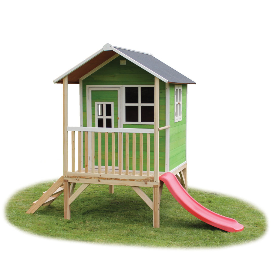 EXIT Holzspielhaus Loft 300, grün