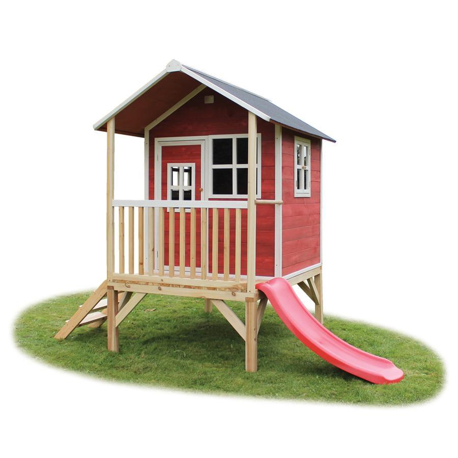 EXIT Drewniany domek zabaw Loft 300, czerwony