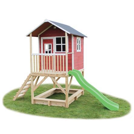 EXIT Drewniany domek zabaw Loft 500, czerwony