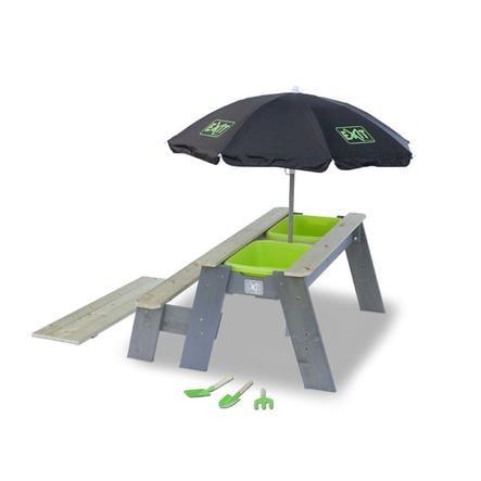 EXIT Ensemble table banc enfant, ombrelle Aksent, bois 94x94 cm