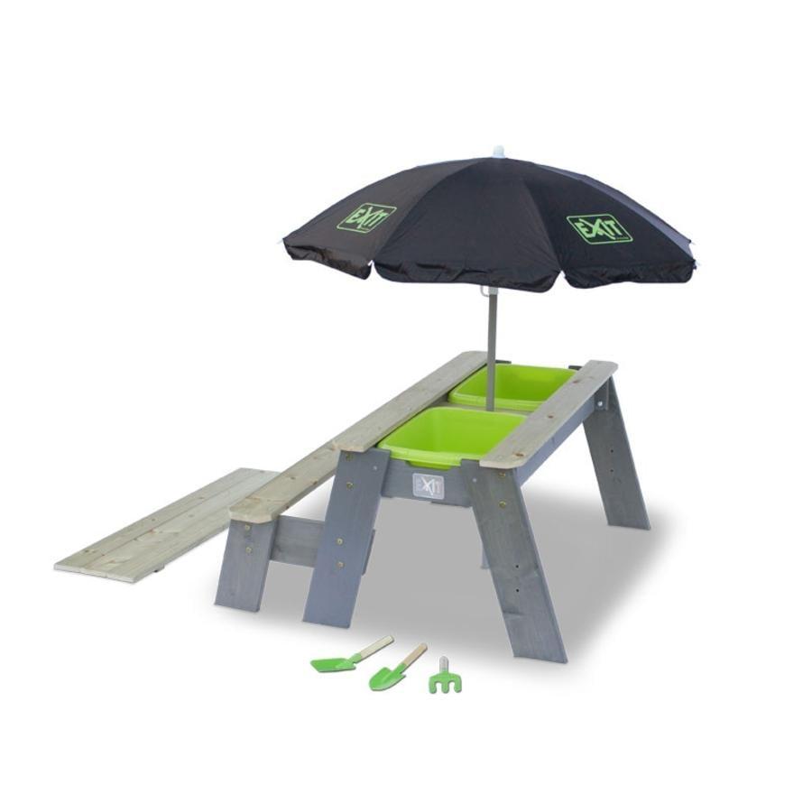EXIT Set tavolo e panca per bambini con ombrellone Aksent