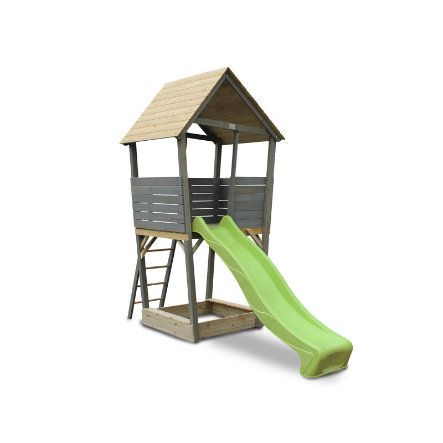 EXIT Dřevěná věž na hraní Aksent šedá