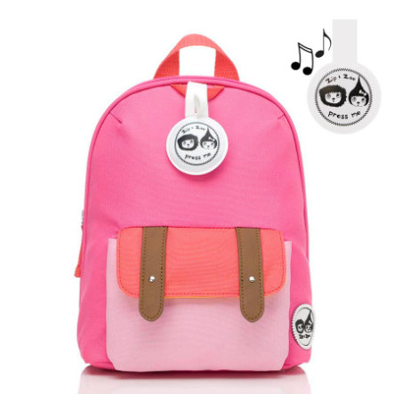 Zip & Zoe Mini Backpack Hot Pink Colourblock