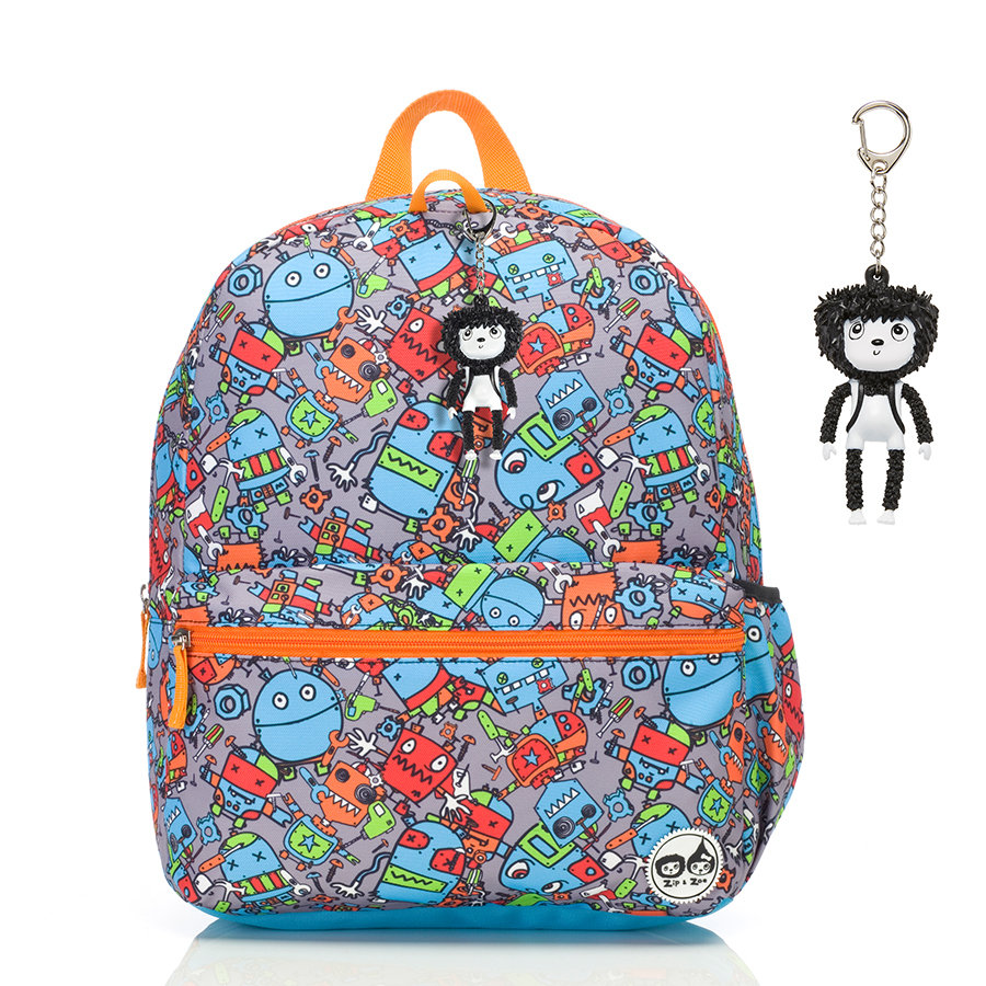 Zip & Zoe Junior Backpack Robot Blue