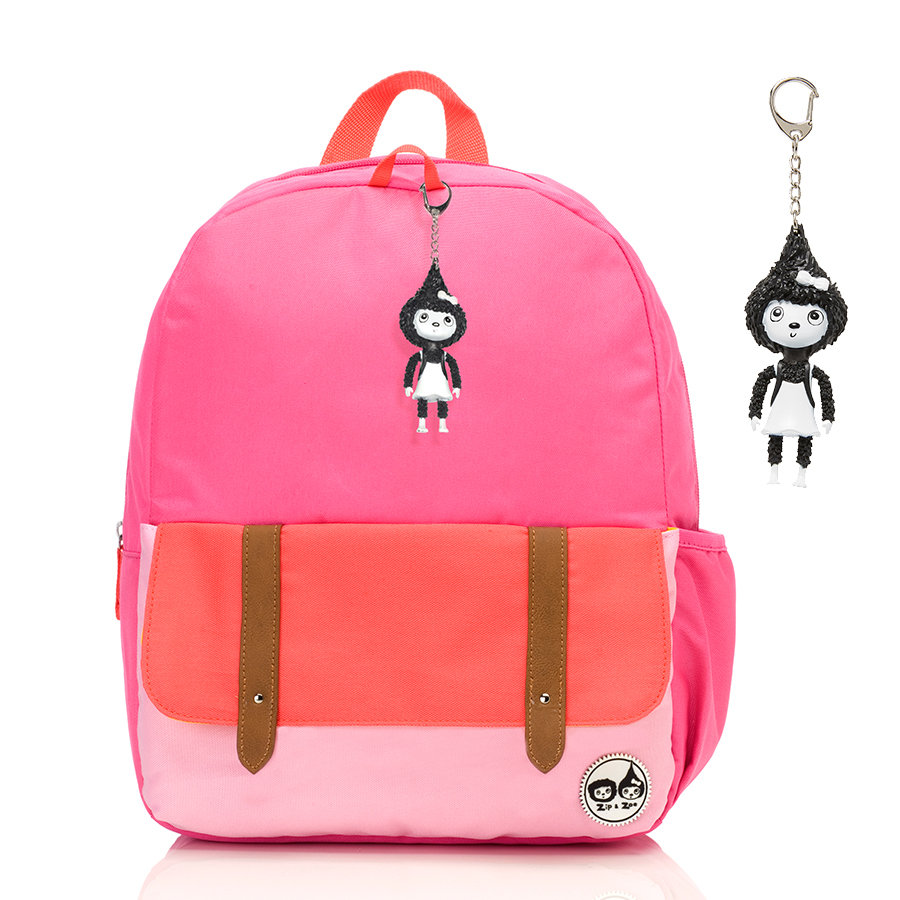 Zip & Zoe Junior Backpack Hot Pink