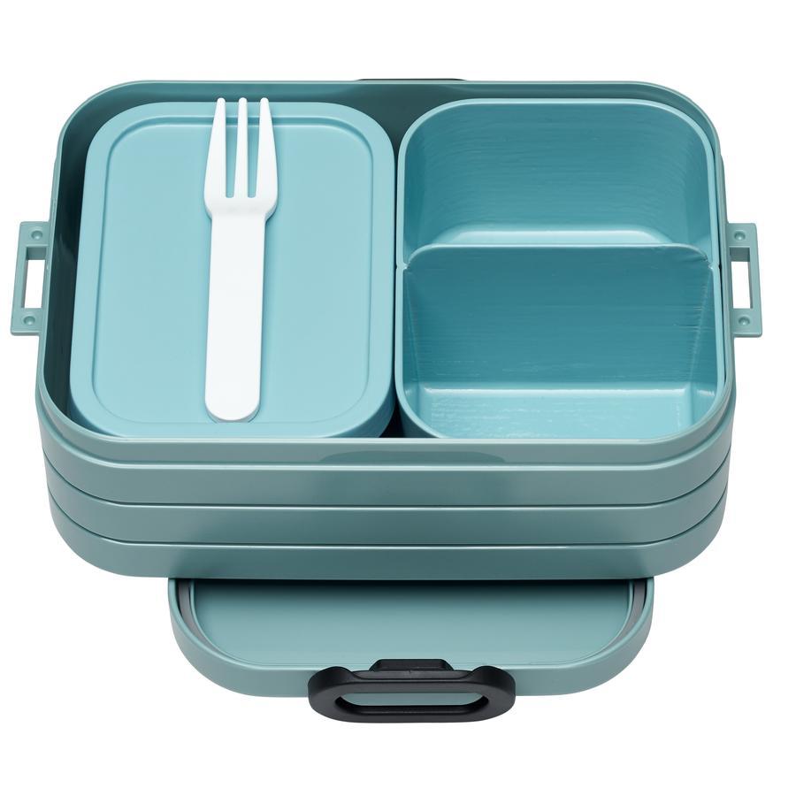MEPAL Recipiente para alimentos Bento Lunchbox nordic verde medio 900 ml