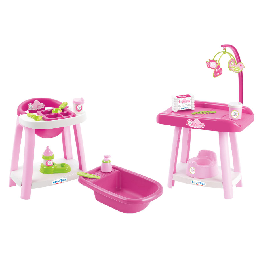 ecoiffier nursery - Puppenpflege-Set 3in1
