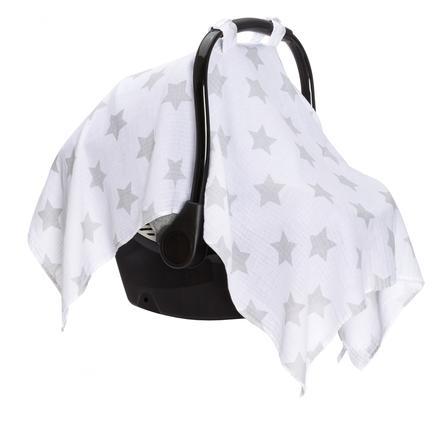 fillikid Sonnenschutz für Babyschalen weiß/Sterne