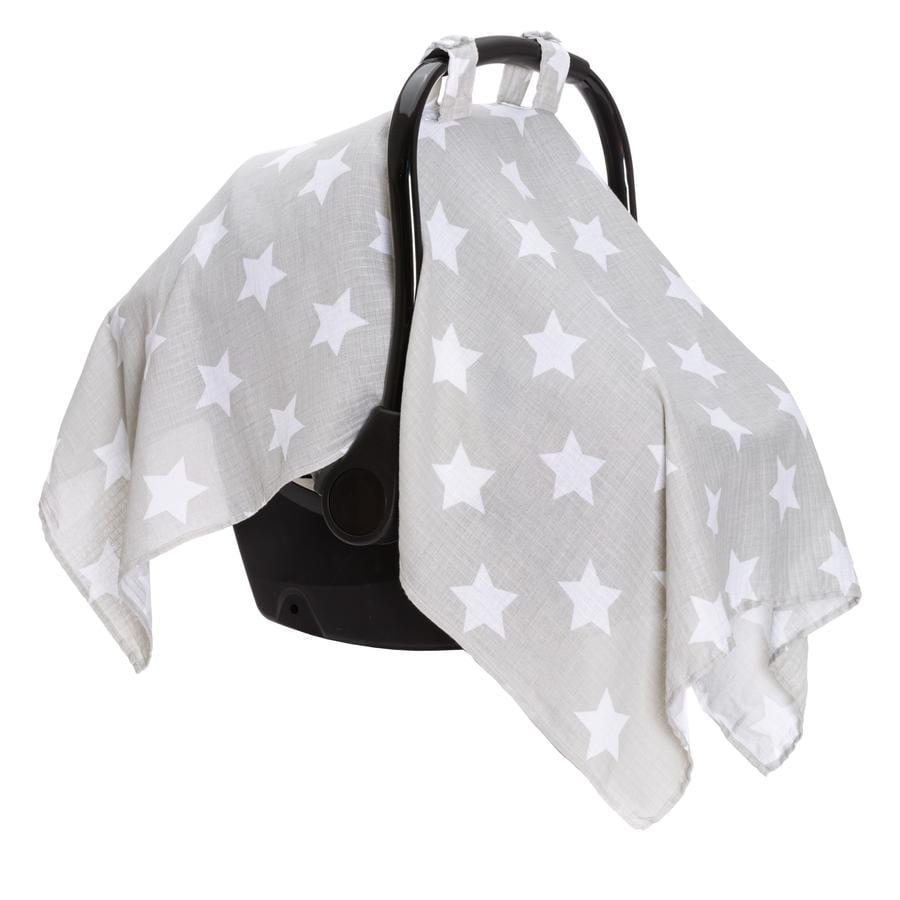 fillikid Solbeskyttelse til barnevogn grå stjerner