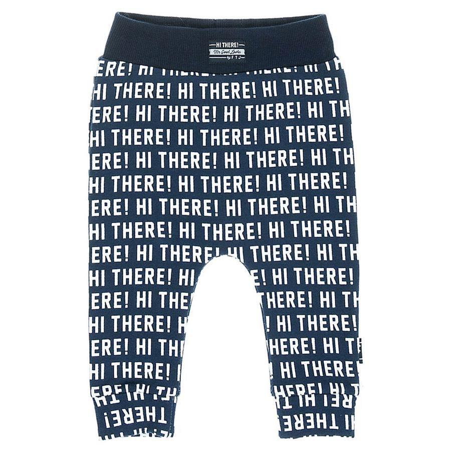 Feetje Pantalones de chándal Hola Hay estampado azul marino