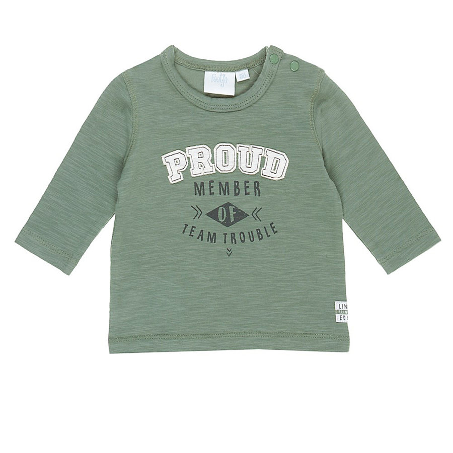 Feetje Longsleeve Proud Team Trouble Army