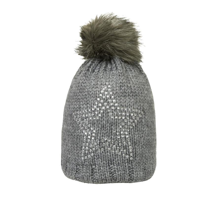 Döll Girl s sombrero de pompón de punto, gris