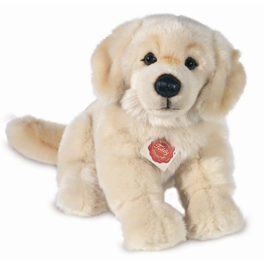 HERMANN® Teddy Peluche chien golden retriever assis, 30 cm