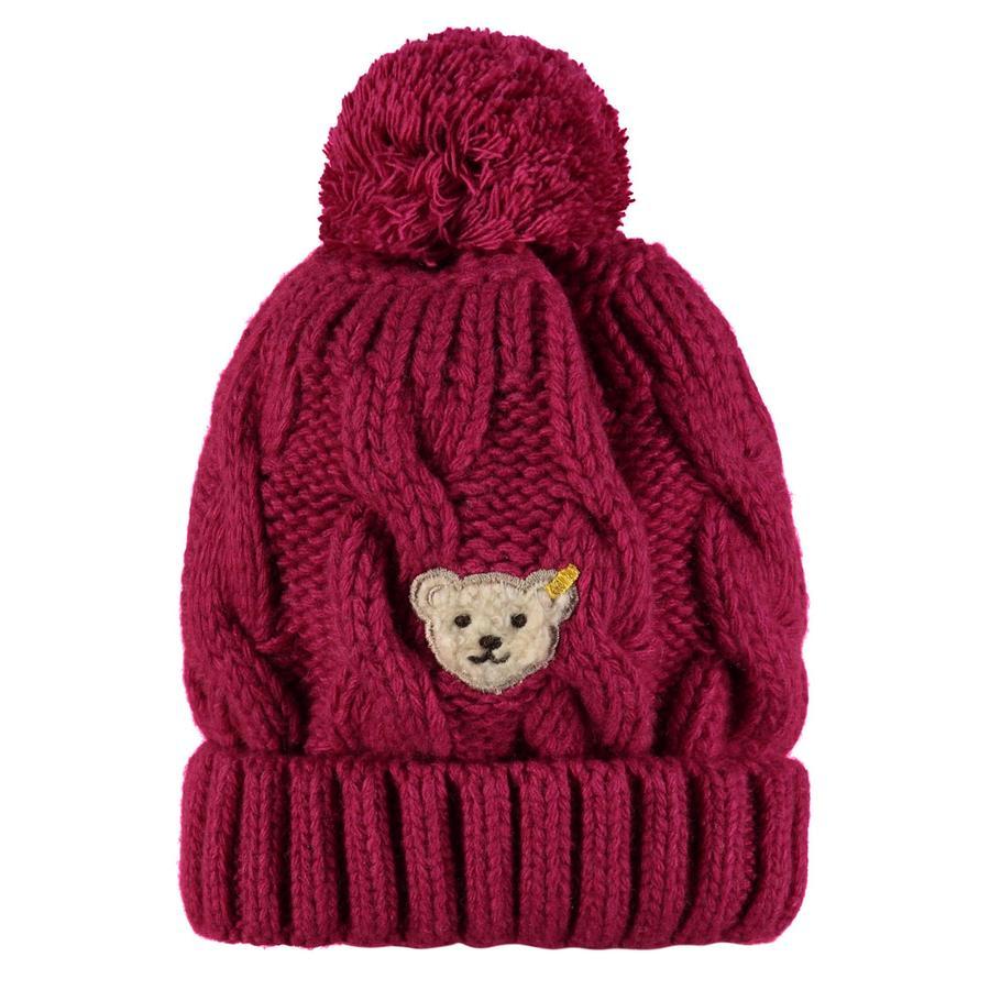 Steiff Girl s Bonnet tricoté, rouge