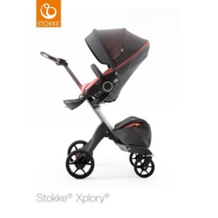 STOKKE® Xplory® V5 Kinderwagen athleisure coral mit Sitz und Einkaufstasche