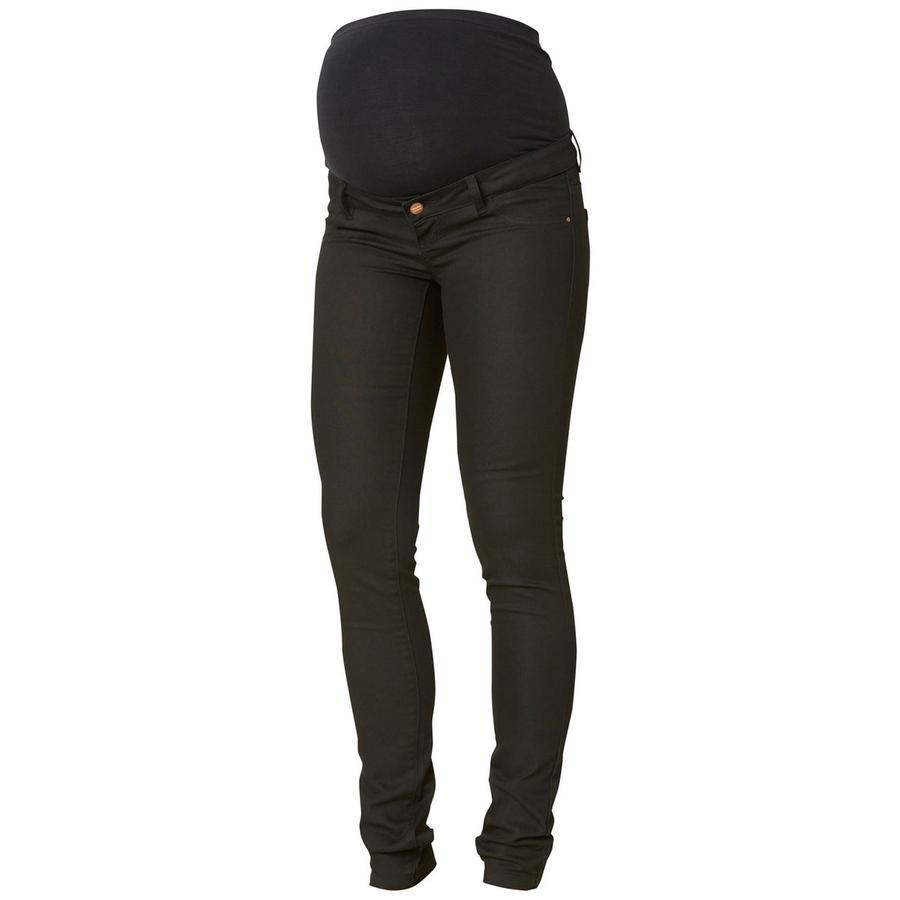 mama licious moderskap jeans Coated MLJULIANE Svart