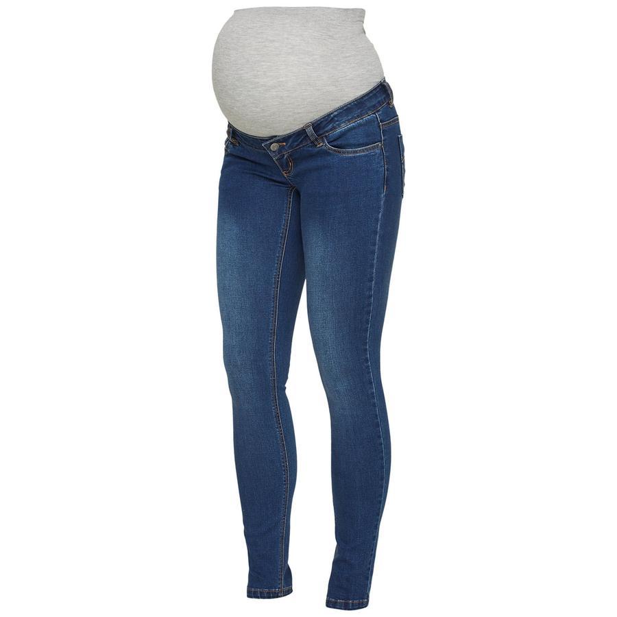 mama licious těhotenské džíny MLLOLA blue denim