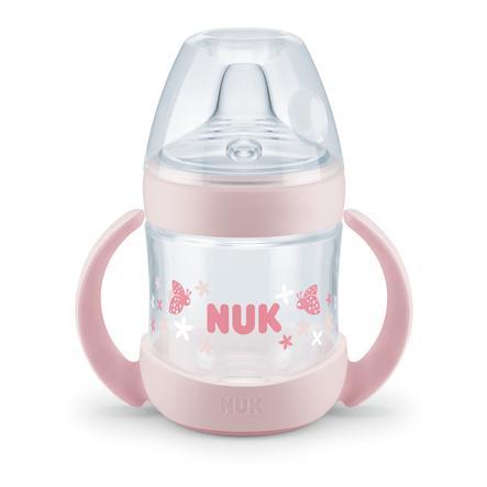 NUK Trinklernflasche Nature Sense rosa 150 ml ab dem 6. Monat