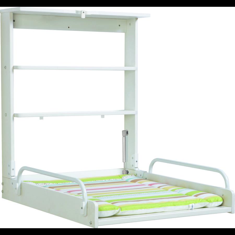 roba Wandwickelregal Dschungelbaby weiß 79,5 x 63 x 76,5/19 cm