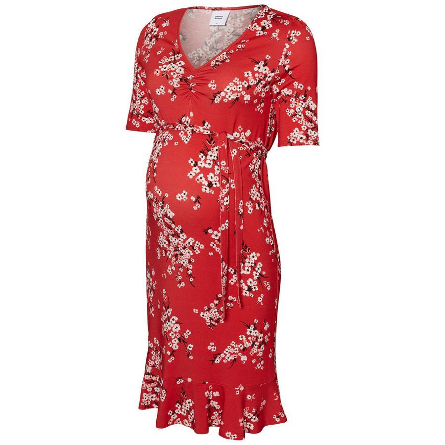 mama licious Robe de maternité MLIBEN rouge chinois