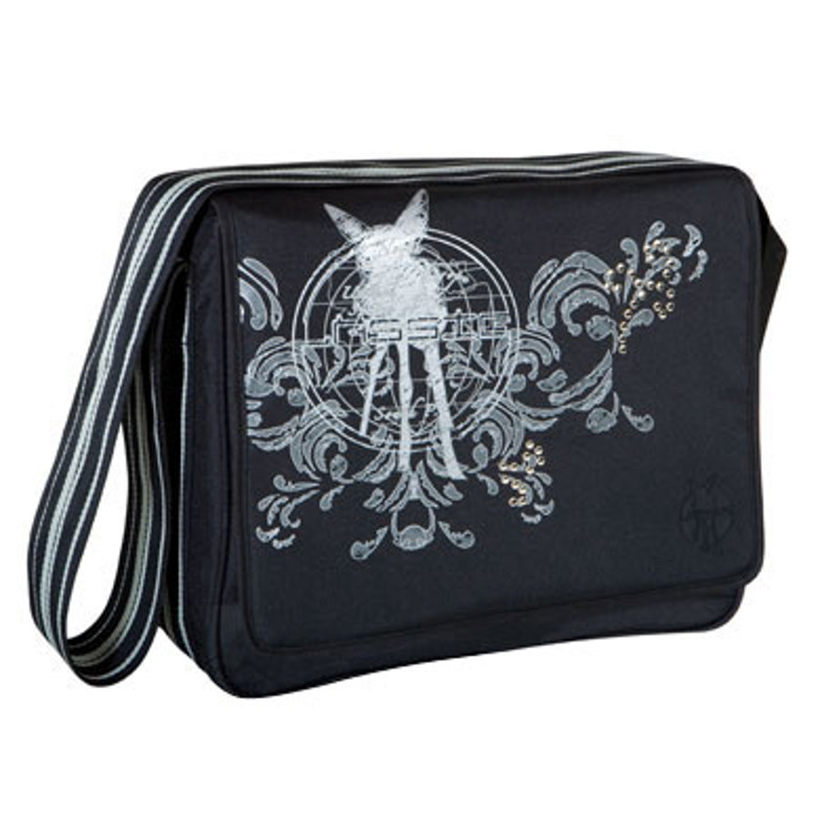 LÄSSIG Wickeltasche Messenger Bag Classic Design world of bambi black
