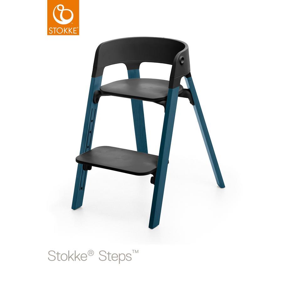 STOKKE® Steps™ Hochstuhl schwarz Buche Midnight Blue