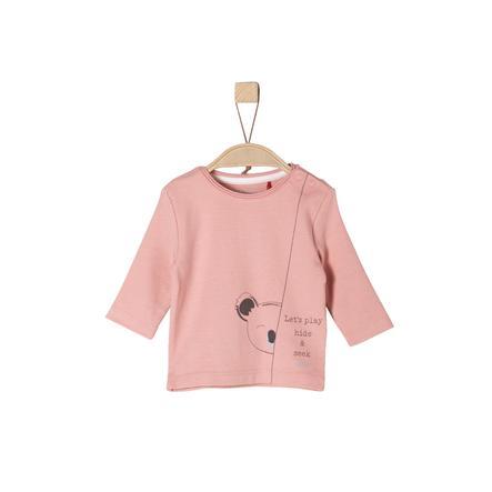 s.Oliver Girl s lange mouw shirt stoffig roze