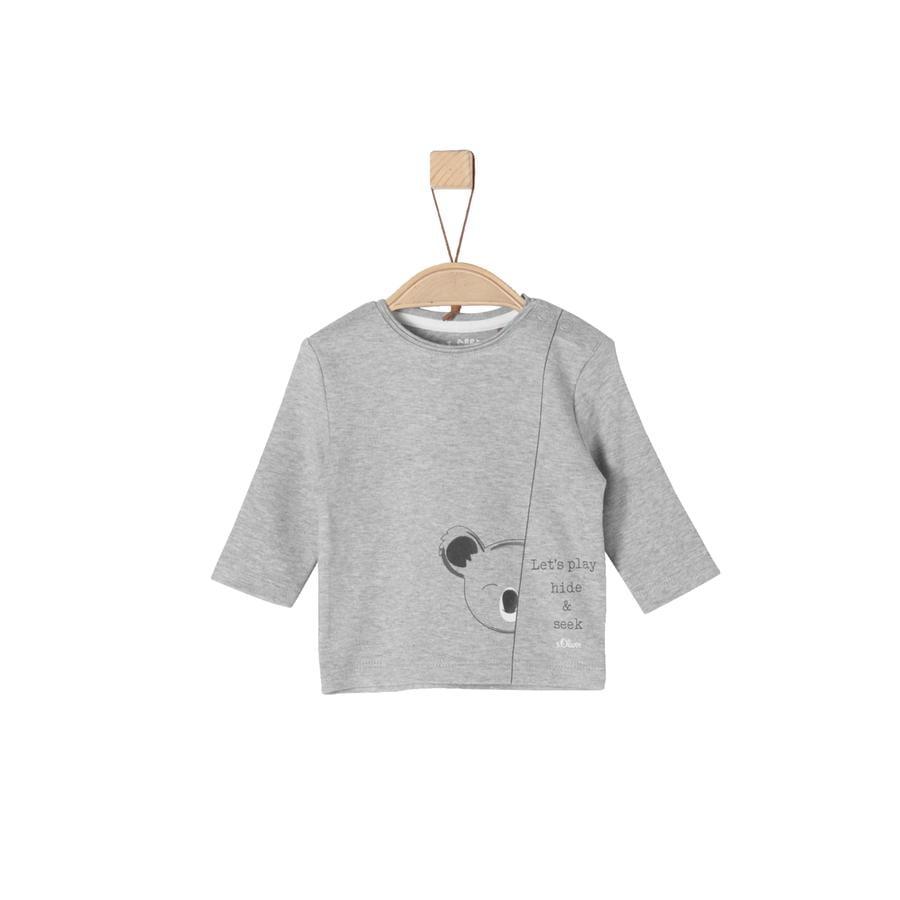 s.Oliver Girl s Chemise manches longues gris clair mélangé