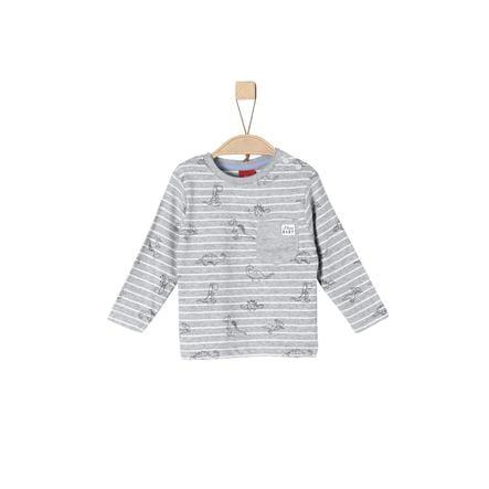 s.Oliver Boys Camisa manga larga gris