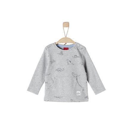 s.Oliver Boys Shirt met lange mouwen lichtgrijs melange