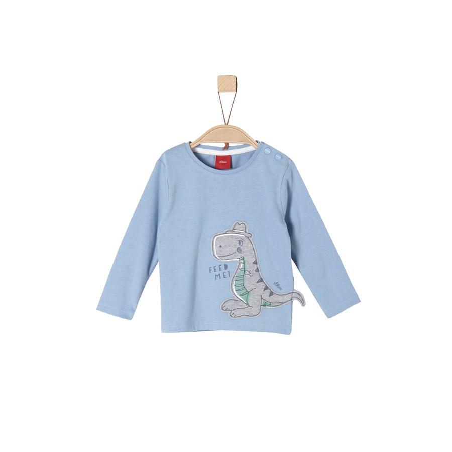 s.Oliver T-shirt manches longues enfant dinosaure bleu