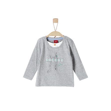 s.Oliver Boys Overhemd met lange mouwen grijs gemêleerd