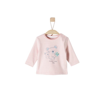 s.Oliver Girls Langarmshirt dusty pink stripes