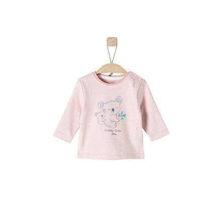 s. Oliver Tyttöjen pitkähihainen paita vaaleanpunaisia ??raitoja