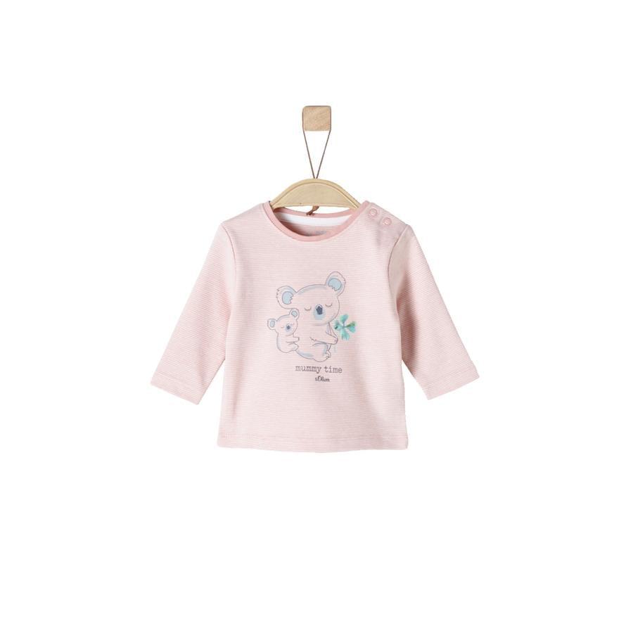 s.Oliver Girl s camisa de manga larga rayas rosas polvorientas