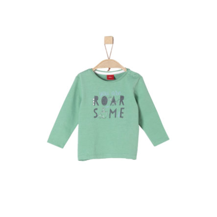 s.Oliver Boys Camisa manga larga verde