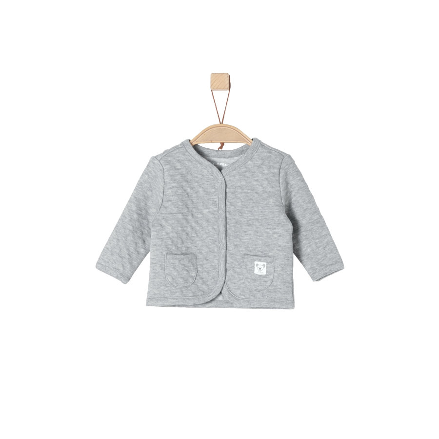 s.Oliver Girls Sweatjacke light grey melange