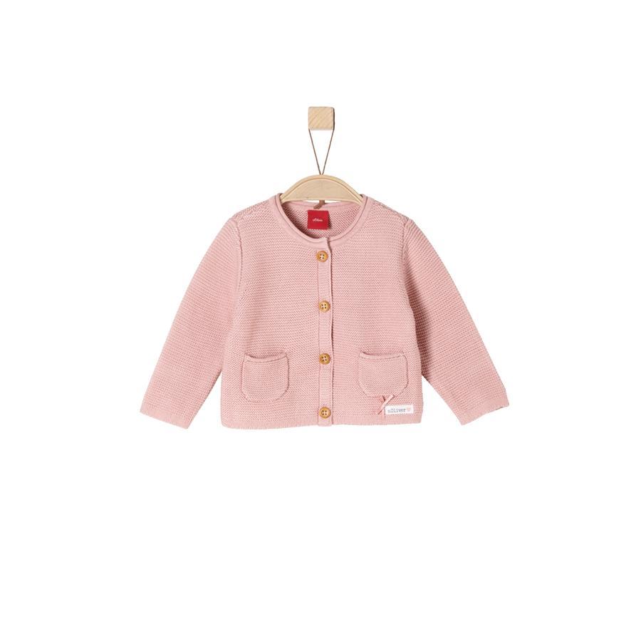 s.Oliver Girl s cardigan rosa polveroso rosa polveroso