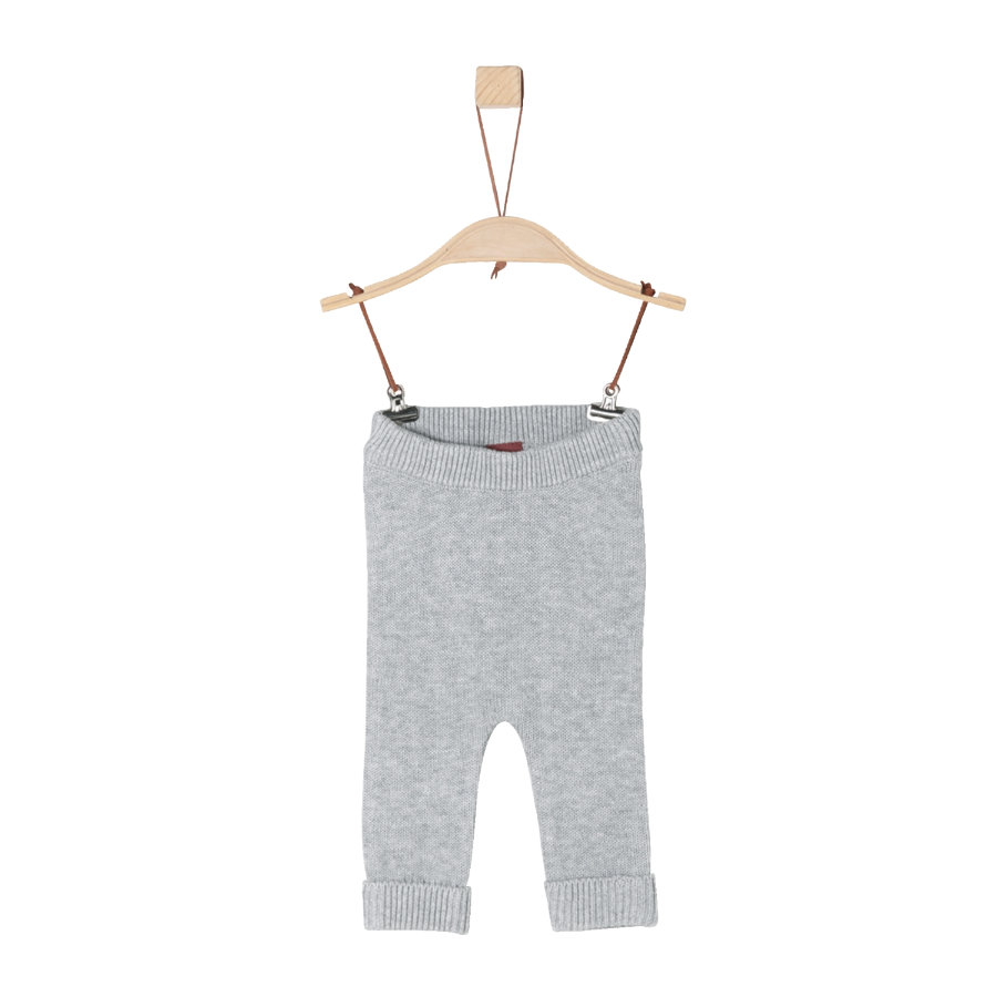 s.Oliver Girls Strickhose light grey melange