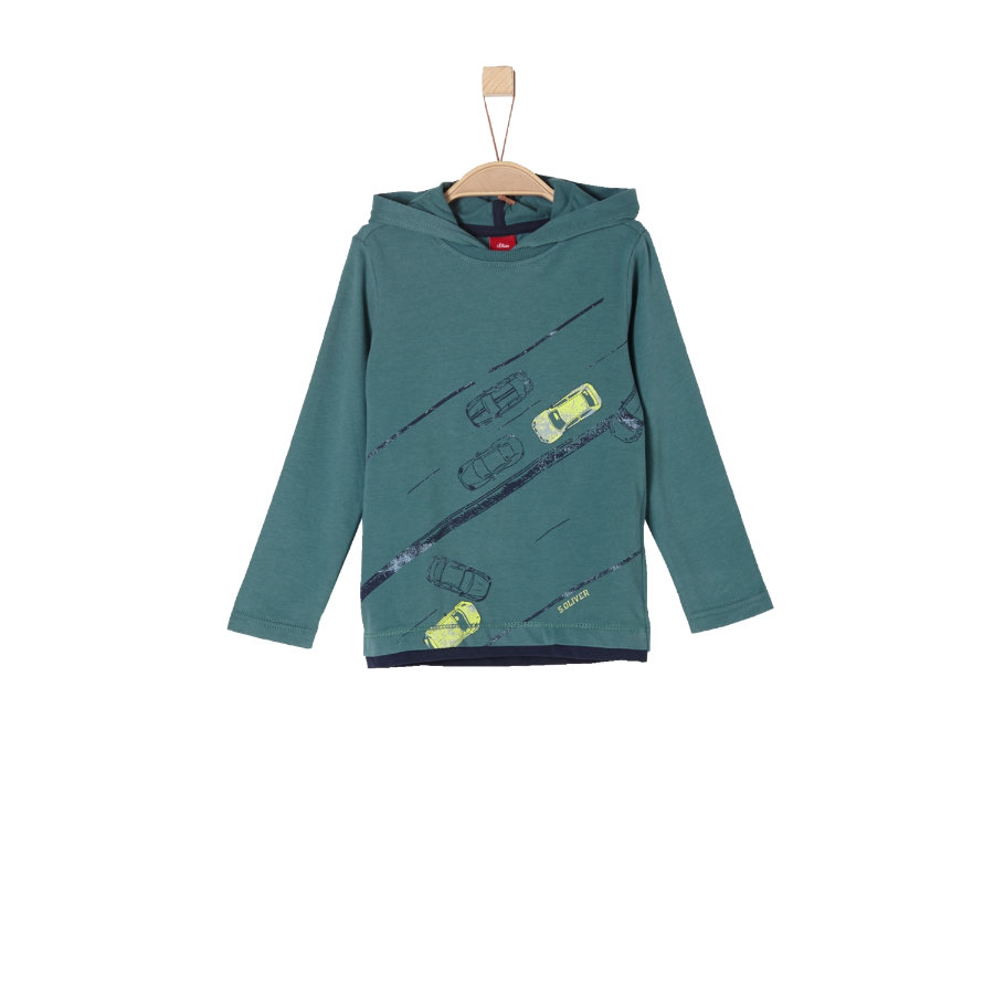 s.Oliver Boys Camisa manga larga azul verde