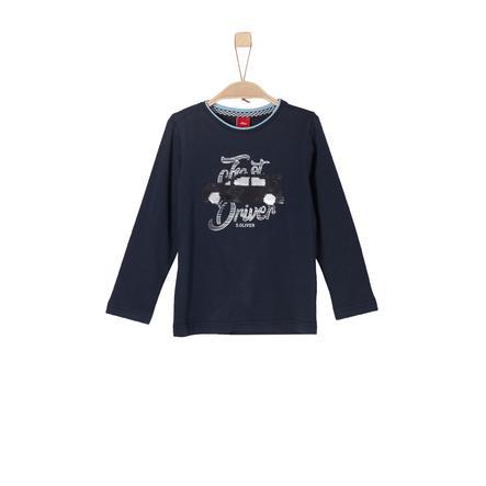 s.Oliver Boys Koszulka z długim rękawem, ciemnoniebieska