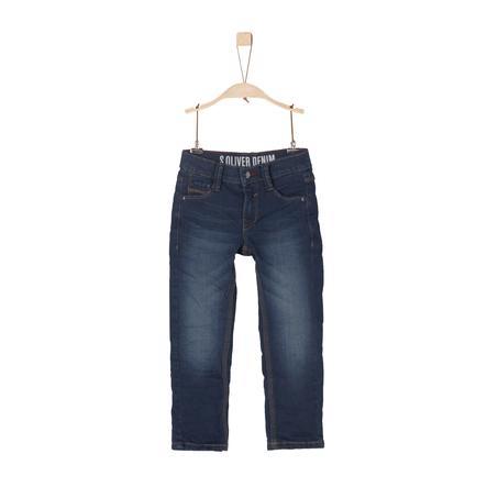 s.Oliver Boys Pantalon en denim bleu stretch slim slim
