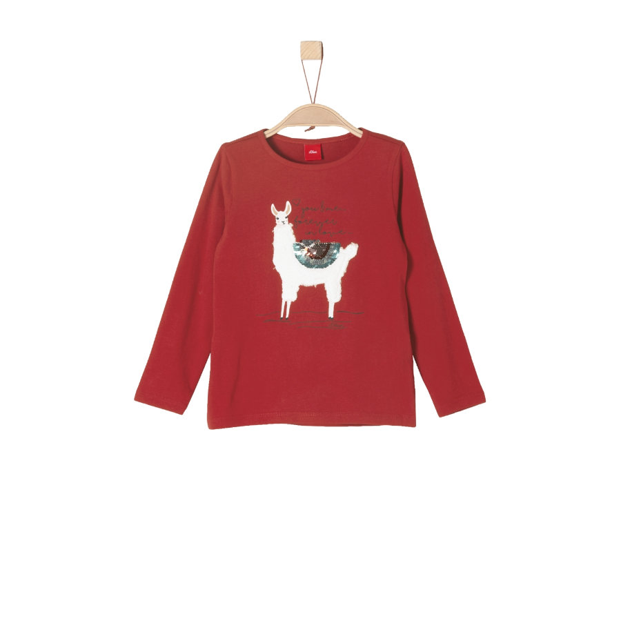 s.Oliver Girl s camisa de manga larga rojo oscuro