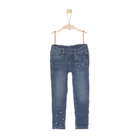 s.Oliver Girls Treggings blue denim stretch