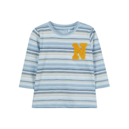 name it Boys Langarmshirt Laban dusty blue