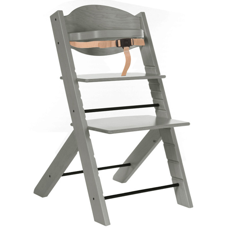 Treppy silla wood alta y gray